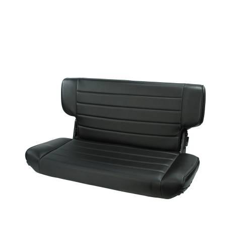 Rugged Ridge - Fold and Tumble Rear Seat, Black Denim; 97-02 Jeep Wrangler TJ