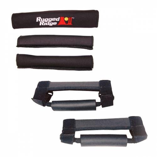 Rugged Ridge - Grab Handle Kit, Black; 97-06 Jeep Wrangler TJ/LJ