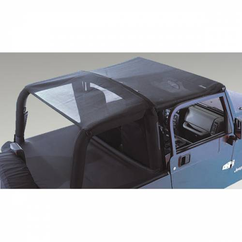 Rugged Ridge - Mesh Header Roll Bar Top; 97-06 Jeep Wrangler TJ