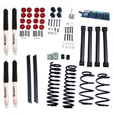 Rugged Ridge - Rugged Ridge 2 Inch Lift Kit with Shocks (2004-06) Jeep Wrangler Unlimited LJ