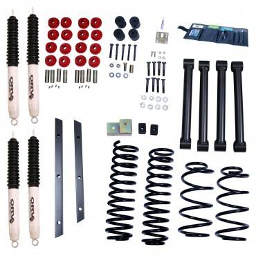 Rugged Ridge - Rugged Ridge 2 Inch Lift Kit with Shocks (1997-02) Jeep Wrangler TJ