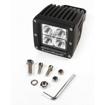 Rugged Ridge - Rugged Ridge 3 Inch Square LED Driving Light, 16 Watt, 840 Lumens