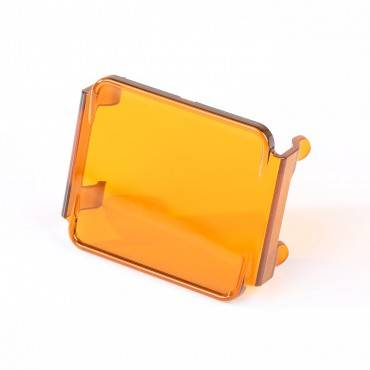 Rugged Ridge - Rugged Ridge 3 Inch Square LED Light Cover, Amber