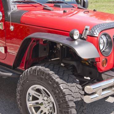 Outland Automotive - Outland Automotive 4 Piece All Terrain Flat Fender Flare Kit (2007-15) Jeep Wrangler JK