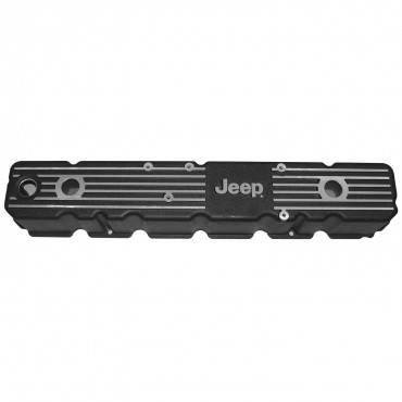 Omix-ADA - Omix-ADA Aluminum Valve Cover with Jeep Logo (1981-86) Jeep CJ7/CJ8, 4.2L
