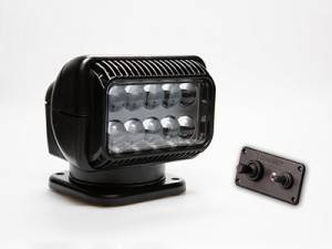 Golight - Go Light Legendary Series Permanent Mount with Dash Mounted Remote, Black Housing, LED