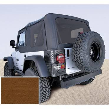 Rugged Ridge - Rugged Ridge XHD Soft Top, Tan, Tinted Windows (1997-06) Jeep Wrangler TJ