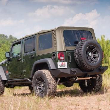 Rugged Ridge - Rugged Ridge XHD Soft Top, Spring Assist, Khaki Diamond (2007-09) Wrangler Unlimited