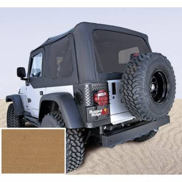 Rugged Ridge - Rugged Ridge XHD Soft Top, Spice, Tinted Windows (1997-06) Jeep Wrangler TJ