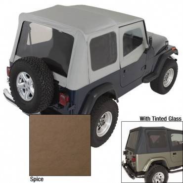 Rugged Ridge - Rugged Ridge XHD Soft Top, Spice, Tinted Windows (1988-95) Jeep Wrangler YJ