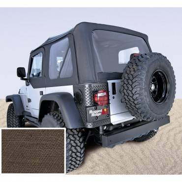 Rugged Ridge - Rugged Ridge XHD Soft Top, Khaki, Tinted Windows (1997-06) Jeep Wrangler TJ