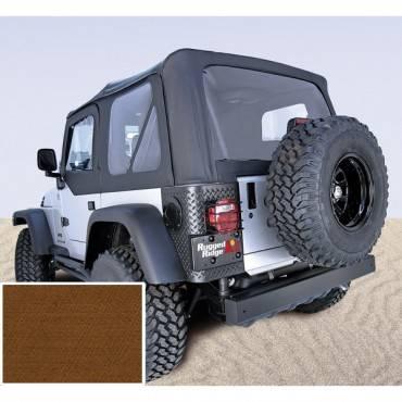 Rugged Ridge - Rugged Ridge XHD Soft Top, Dark Tan, Tinted Windows (1997-06) Jeep Wrangler TJ