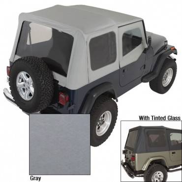 Rugged Ridge - Rugged Ridge XHD Soft Top, Charcoal, Tinted Windows (1988-95) Jeep Wrangler YJ