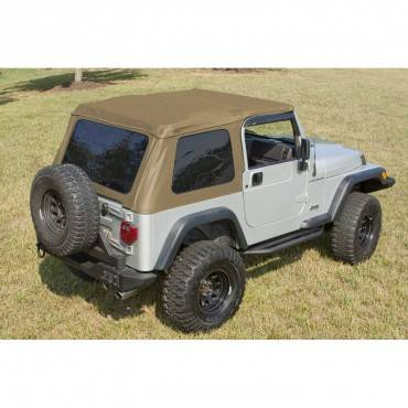 Rugged Ridge - Rugged Ridge XHD Soft Top, Bowless, Spice, Sailcloth (1997-06) Jeep Wrangler TJ