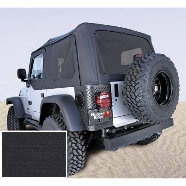 Rugged Ridge - Rugged Ridge XHD Soft Top, Black, Tinted Windows, Sailcloth (1997-06) Jeep Wrangler TJ