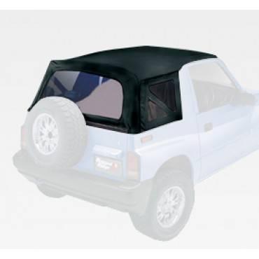 Rugged Ridge - Rugged Ridge XHD Soft Top, Black Denim, Clear Windows (1995-98) Suzuki Sidekicks