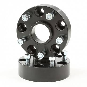 Rugged Ridge - Rugged Ridge Wheel Spacers, 1.25 Inch, Black, 5x5 (1999-04) Jeep Grand Cherokee