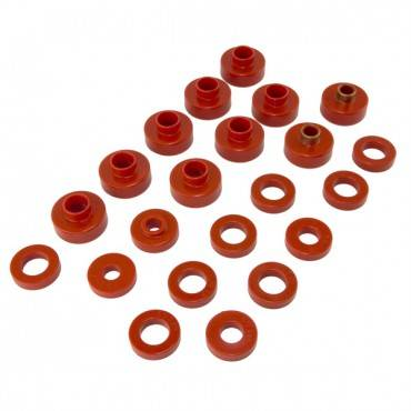 Rugged Ridge - Rugged Ridge Body Mount Kit, Red, 26 Pieces (1981-86) Jeep CJ8