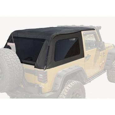 Rugged Ridge - Rugged Ridge Bowless Top, Black Diamond (2007-15) Jeep Wrangler JK, 2-Door