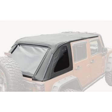 Rugged Ridge - Rugged Ridge Bowless Top, Black Diamond (2007-15) Jeep Wrangler Unlimited JK, 4-Door
