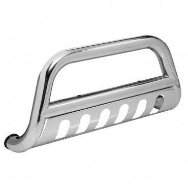 Rugged Ridge - Rugged Ridge Bull Bar, 3 Inch, Black and Stainless (2007-09) Jeep Wrangler JK
