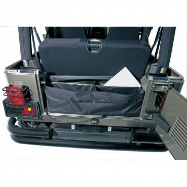 Rugged Ridge - Rugged Ridge Cargo Liner, Black, Jeep Logo (1976-95) CJ7/Wrangler YJ