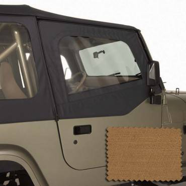 Rugged Ridge - Rugged Ridge Upper Soft Door Kit, Spice (1988-95) Jeep Wrangler YJ