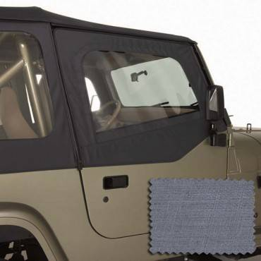 Rugged Ridge - Rugged Ridge Upper Soft Door Kit, Gray (1988-95) Jeep Wrangler YJ