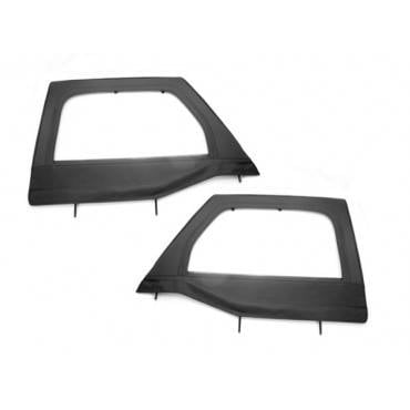Rugged Ridge - Rugged Ridge Upper Soft Door Kit, Front, Black Diamond (2007-15) Jeep Wrangler JK