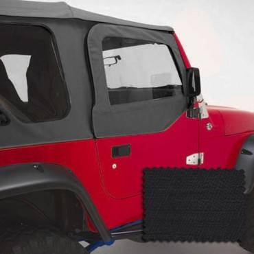 Rugged Ridge - Rugged Ridge Upper Soft Door Kit, Black Diamond (1988-95) Jeep Wrangler YJ