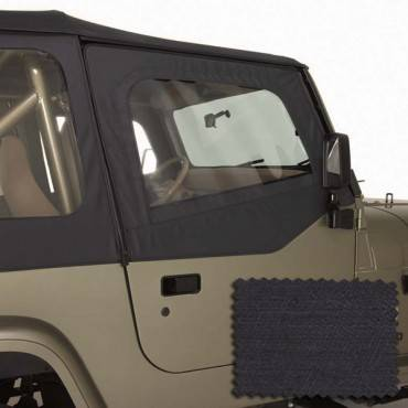 Rugged Ridge - Rugged Ridge Upper Soft Door Kit, Black Denim (1988-95) Jeep Wrangler YJ