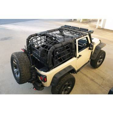 Rugged Ridge - Rugged Ridge Cargo Net, Black (2007-15) Jeep Wrangler JK 2-Door