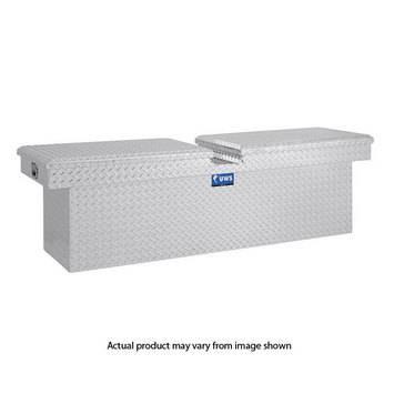 """UWS Tool Boxes - UWS Truck Tool Box, 72""""L x 19.25""""W x 19.5""""H Aluminum Diamond Plate, Gull Wing Lid, Deep"""