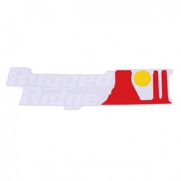 Rugged Ridge - Rugged Ridge Decal, White Logo
