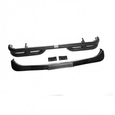 Rugged Ridge - Rugged Ridge Double Tube Rear Bumper, 3 Inch (2007-15) Jeep Wrangler JK
