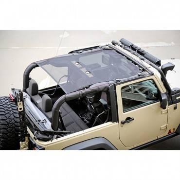 Rugged Ridge - Rugged Ridge Eclipse Sun Shade, Black (2007-15) Jeep Wrangler JK, 2 Door