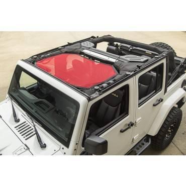 Rugged Ridge - Rugged Ridge Eclipse Sun Shade, Front, Red (2007-15) Jeep Wrangler JK