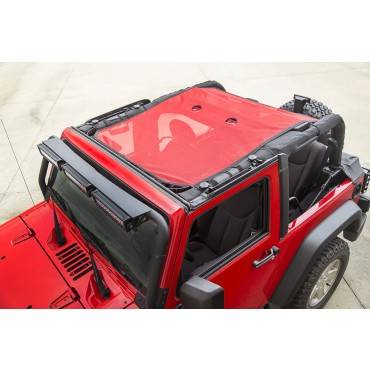 Rugged Ridge - Rugged Ridge Eclipse Sun Shade, Red (2007-15) Jeep Wrangler JK, 2-Door