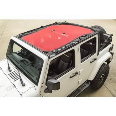 Rugged Ridge - Rugged Ridge Eclipse Sun Shade, Red (2007-15) Jeep Wrangler Unlimited JK, 4-Door