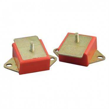 Rugged Ridge - Rugged Ridge Engine Mounts, Red Polyurethane, Pair (1977-86) Models, 3.8L/4.2L