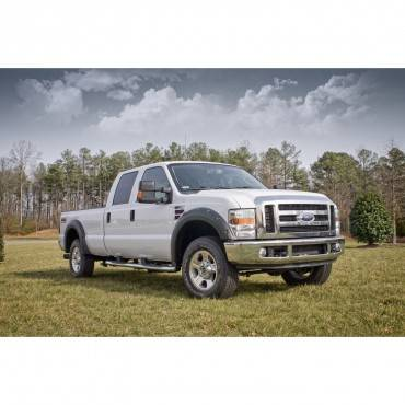 Rugged Ridge - Rugged Ridge Fender Flare Kit, Black (2008-10) Ford F-250/F-350/F-450 SD Pickups