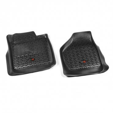 Rugged Ridge - Rugged Ridge Floor Liners, Front, Black (2008-10) Ford F-250/F-350 Reg/Ext/SuperCrew
