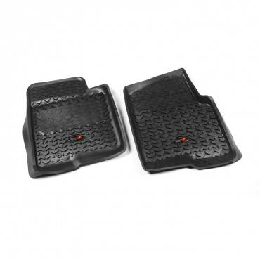 Rugged Ridge - Rugged Ridge Floor Liners, Front, Black (2009-10) Ford F-150 Ext/Reg/SuperCrew