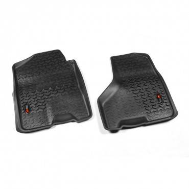 Rugged Ridge - Rugged Ridge Floor Liners, Front, Black (2009-11) Dodge Ram 1500/2500/3500