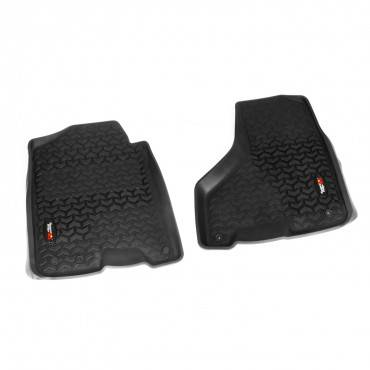 Rugged Ridge - Rugged Ridge Floor Liners, Front, Black (2010-15) Ram Megacab (2012-15) Ram 1500/2500/3500