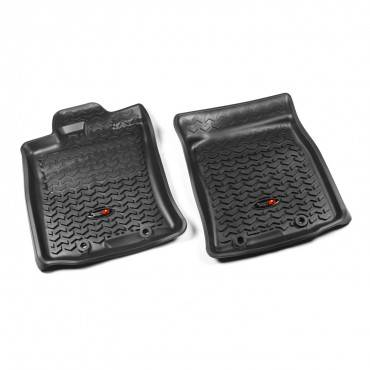 Rugged Ridge - Rugged Ridge Floor Liners, Front, Black (2012-14) Toyota FJ Cruiser, Automatic