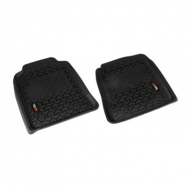 Rugged Ridge - Rugged Ridge Floor Liners, Front, Black (2012-14) Toyota Hilux DoubleCab