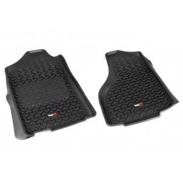 Rugged Ridge - Rugged Ridge Floor Liners, Front, Black (2012-15) Dodge Ram 1500/2500/3500 Reg/Quad
