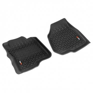 Rugged Ridge - Rugged Ridge Floor Liners, Front, Black (2012-15) Ford F-250/F-350 Reg/Ext/SuperCrew