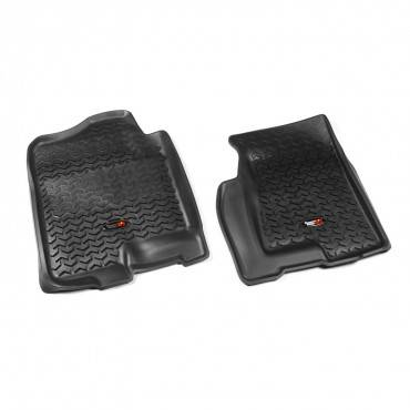 Rugged Ridge - Rugged Ridge Floor Liners, Front, Black (1999-06) GM Fullsize Pickup/SUV